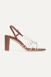Malone Souliers Brinette 70 two-tone knotted leather sandals