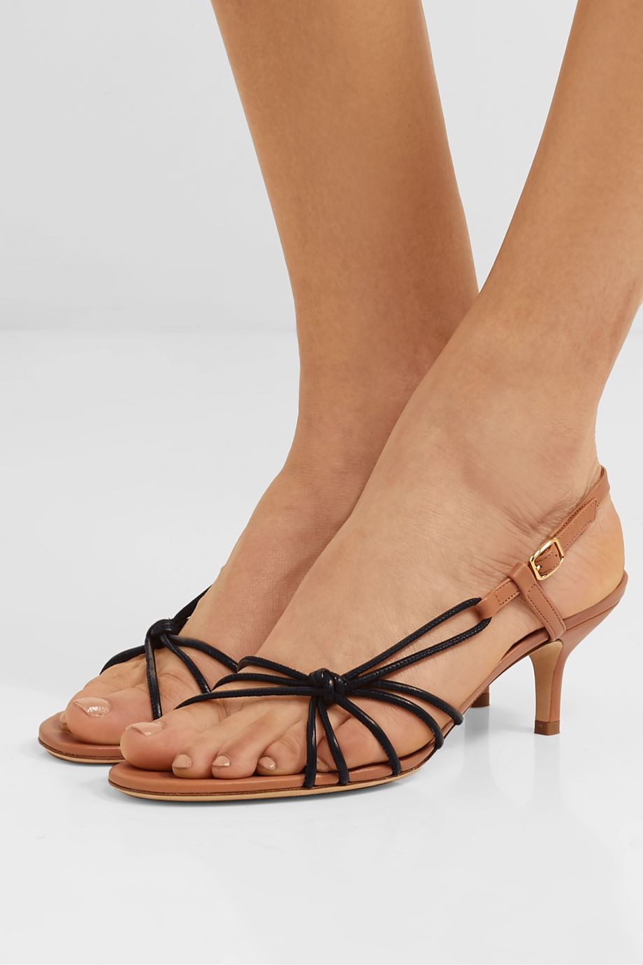 Malone Souliers Antwerp 45 two-tone knotted leather sandals