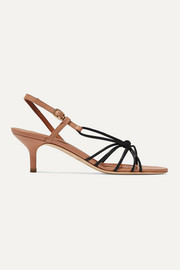 Antwerp 45 two-tone knotted leather sandals