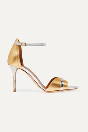 Malone Souliers Honey 85  two-tone metallic leather sandals