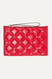 Valentino Garavani Candystud medium quilted leather pouch