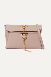 Valentino Valentino Garavani VRING textured-leather clutch