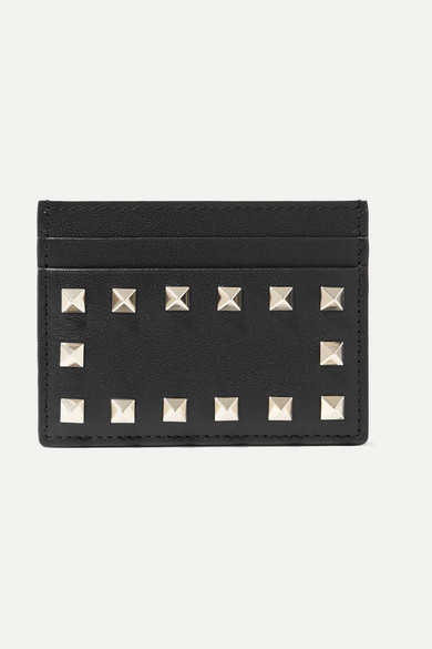 Valentino Wallets Valentino Garavani The Rockstud leather cardholder