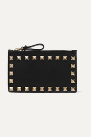 Valentino Garavani The Rockstud leather cardholder