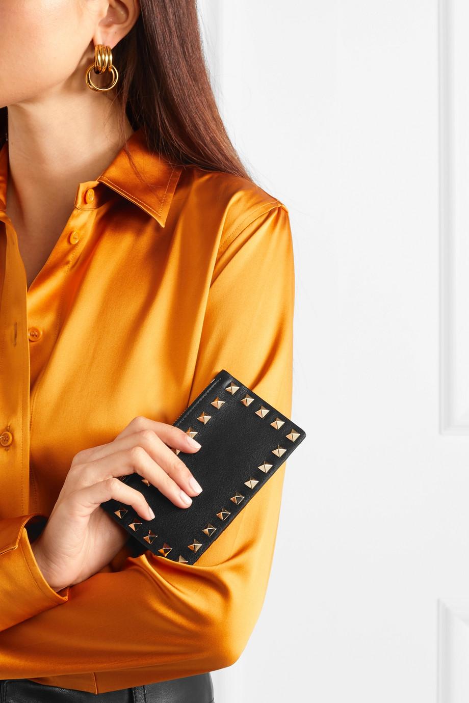 Valentino Valentino Garavani Rockstud leather cardholder