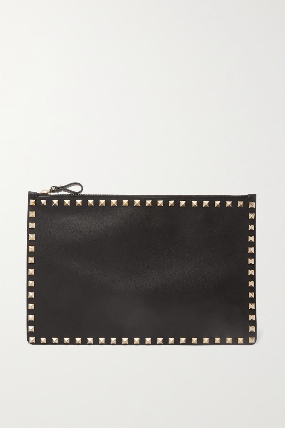 Valentino Valentino Garavani Rockstud large leather pouch