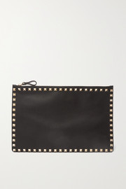 Valentino Garavani The Rockstud large leather pouch