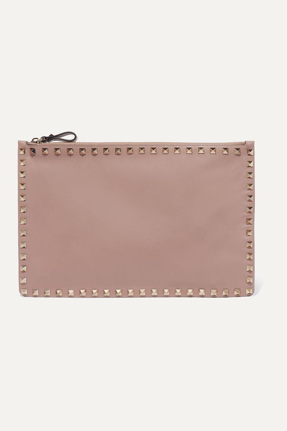 Valentino Valentino Garavani The Rockstud large leather pouch