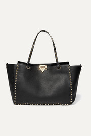Valentino Valentino Garavani Rockstud medium textured-leather tote