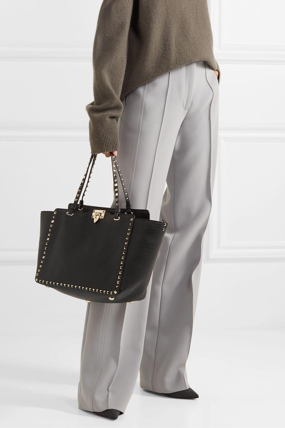 Valentino Valentino Garavani Rockstud medium textured-leather tote