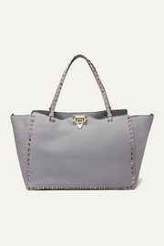 Valentino Garavani Rockstud medium textured-leather tote