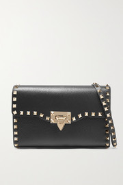 Valentino Valentino Garavani The Rockstud small textured-leather shoulder bag