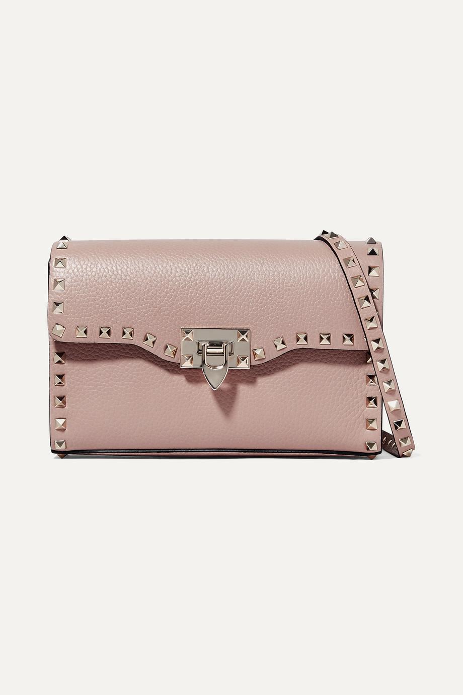 Valentino Valentino Garavani The Rockstud small textured-leather shoulder bag