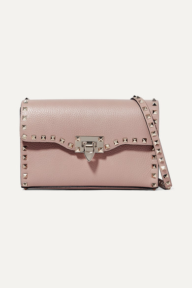 e9a75704f25 Valentino | Valentino Garavani The Rockstud small textured-leather shoulder  bag | NET-A-PORTER.COM