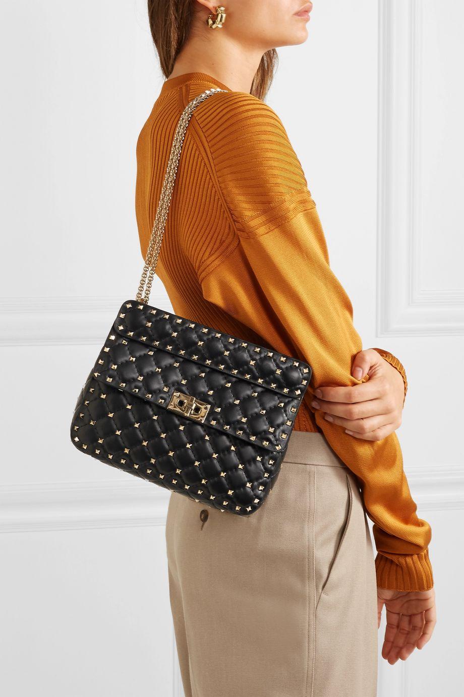 Valentino Valentino Garavani Rockstud Spike medium quilted leather shoulder bag