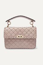 f5640987caf10 Valentino Valentino Garavani The Rockstud Spike medium quilted leather  shoulder bag