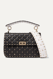 Valentino Valentino Garavani Rockstud Spike medium quilted textured-leather shoulder bag