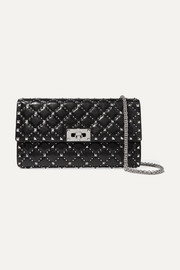 Valentino Valentino Garavani The Rockstud Spike quilted leather clutch