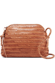 Mallory woven leather shoulder bag