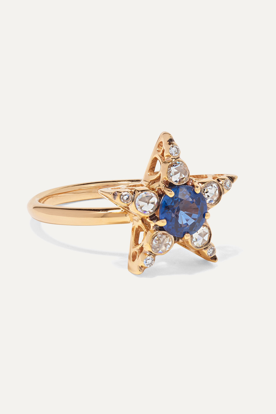 Selim Mouzannar Istanbul 18-karat rose gold, sapphire and diamond ring