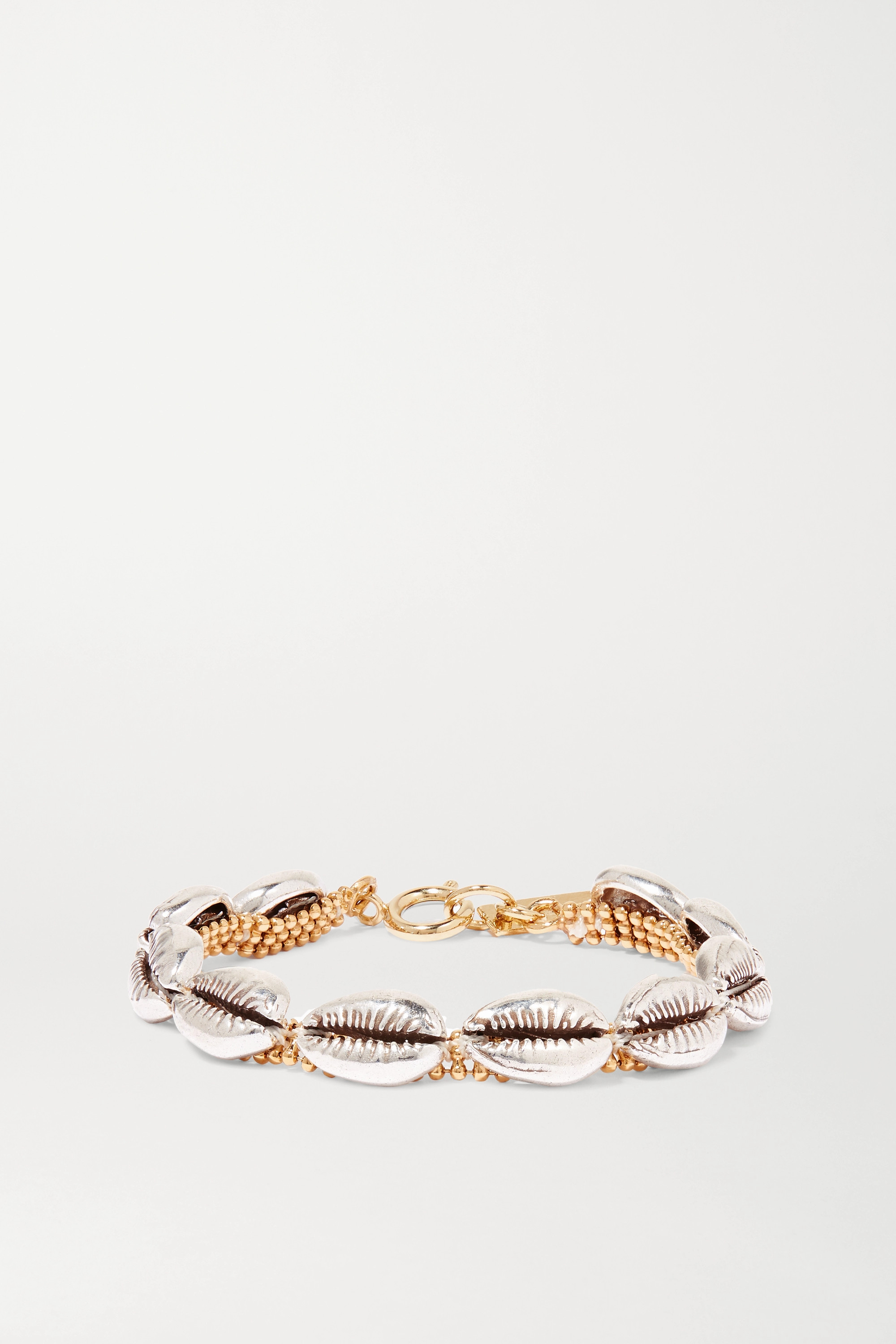 Isabel Marant New Pool silver and gold-tone bracelet