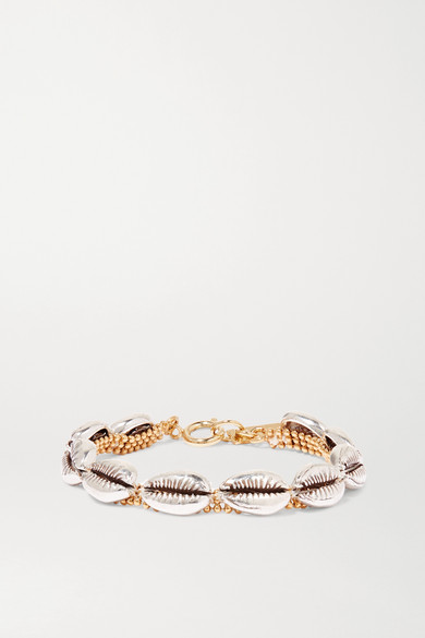 New Pool Silver And Gold Tone Bracelet
