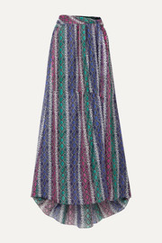 Caroline Constas Hera snake-print silk and cotton-blend voile maxi skirt