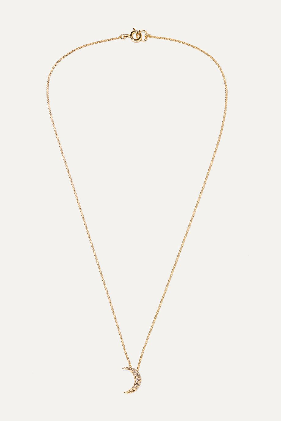 Isabel Marant Moon gold-tone crystal necklace