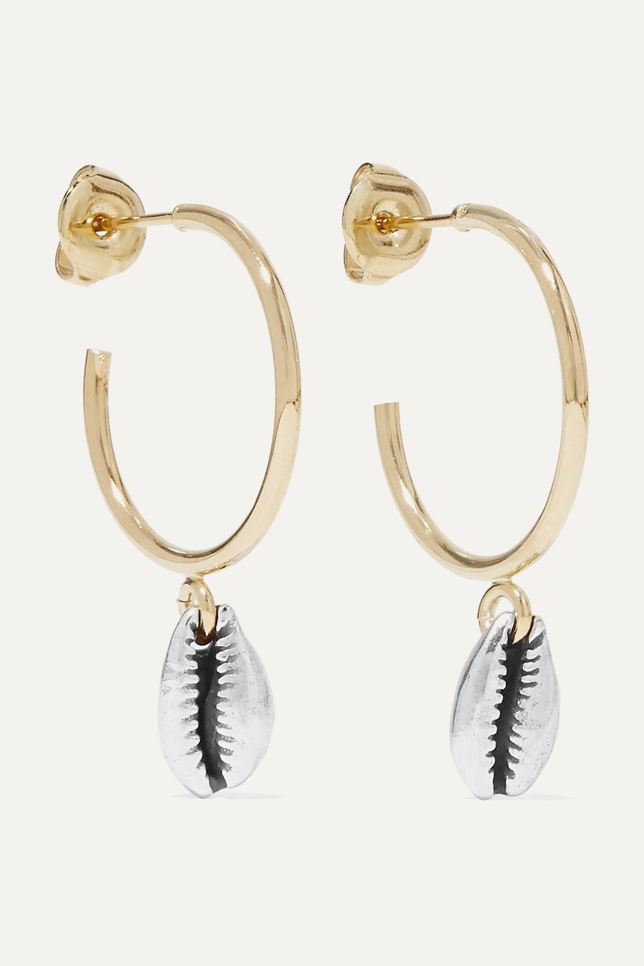 Isabel Marant Amer gold and silver-tone hoop earrings