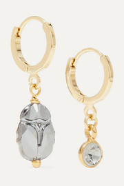 Isabel Marant Vedette gold and silver-tone and crystal earrings