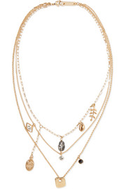 Isabel Marant Vedette gold-tone crystal necklace