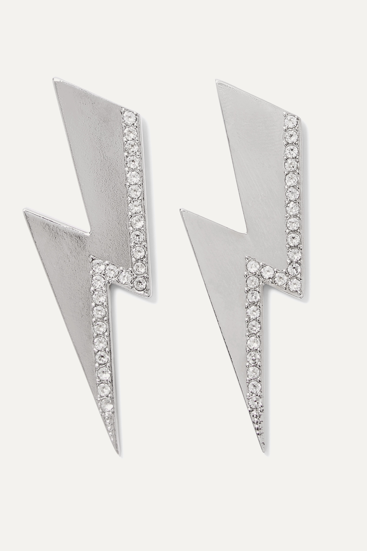 Isabel Marant Flash silver-tone crystal earrings