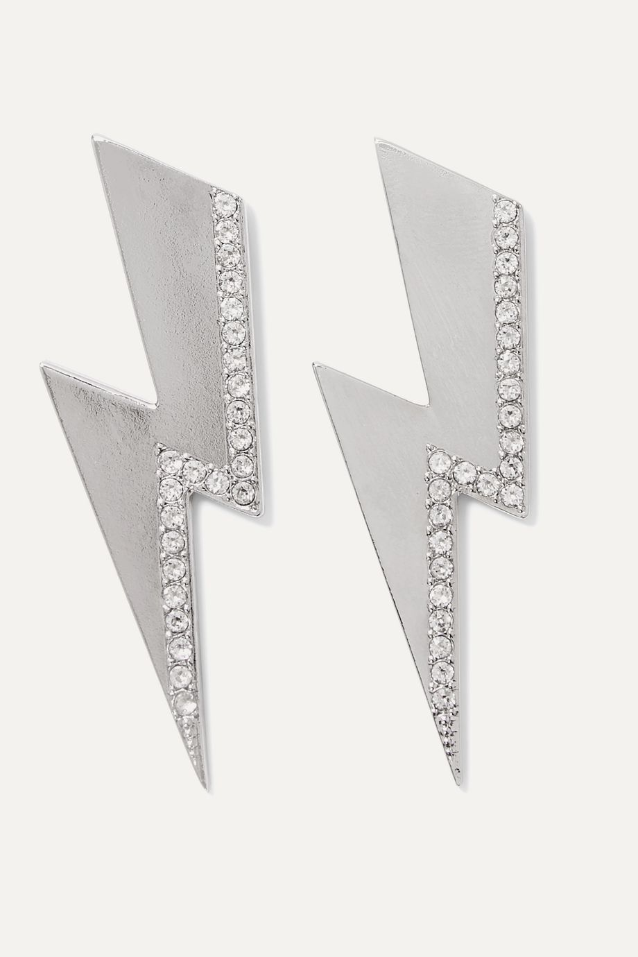 Isabel Marant Flash silver-tone crystal earrings