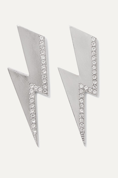 Isabel Marant Jewelry Flash silver-tone crystal earrings