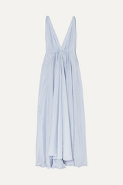 Kalita Clemence gathered silk-habotai maxi dress