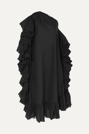 Kalita Zahara one-shoulder ruffled cotton-voile maxi dress