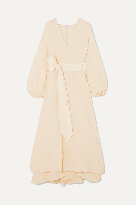 Kalita Gaia cotton-gauze wrap maxi dress