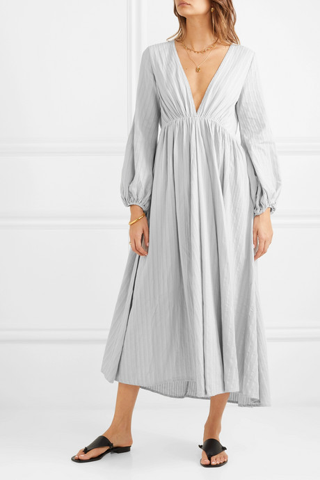 Aphrodite cotton-gauze maxi dress