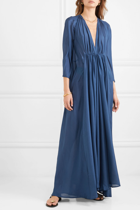 Clemence silk-organza maxi dress