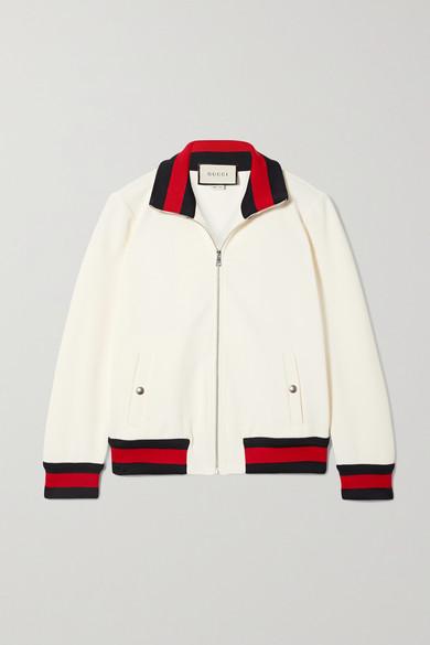 21592813 Striped twill bomber jacket