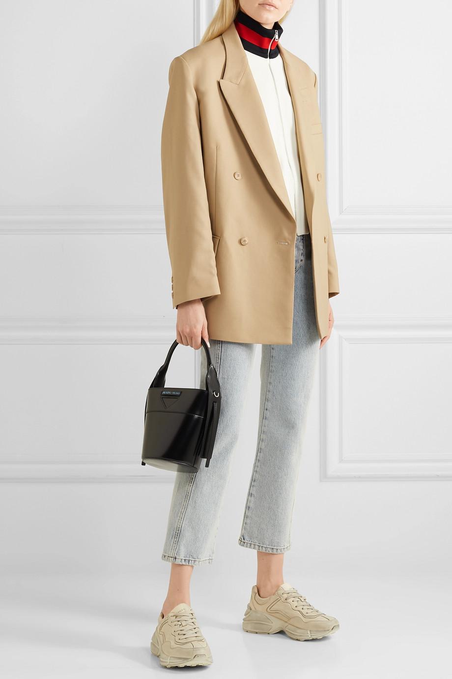 Gucci Striped twill bomber jacket