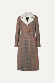 Chloé Belted checked wool-blend coat