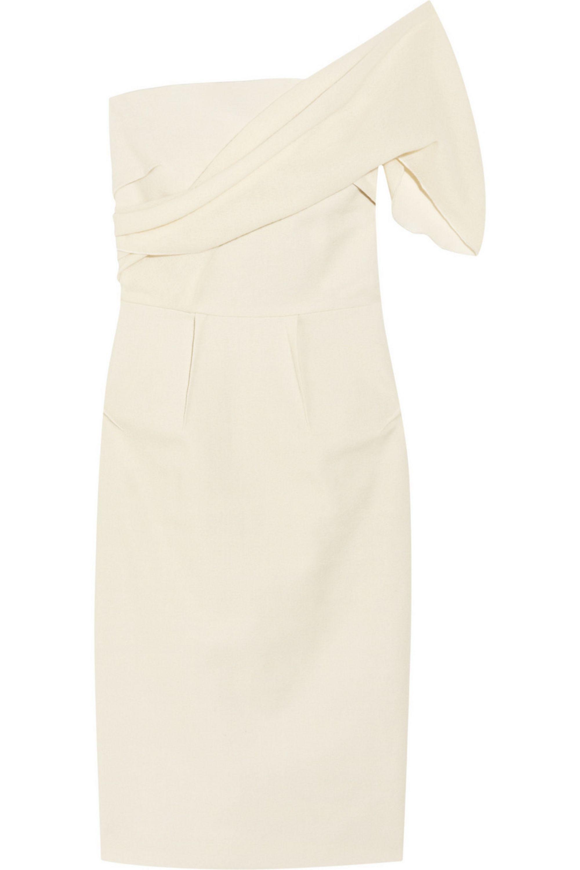 Roland Mouret Hermia one-shoulder wool-crepe dress