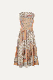 Chloé Printed silk-twill maxi dress