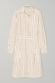 Chloé Printed silk-crepe shirt dress