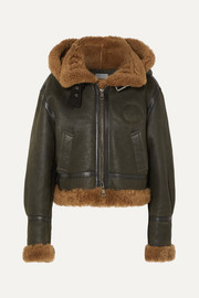 Chloé Cropped hooded shearling jacket