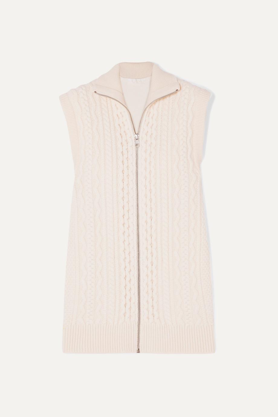 Chloé Cable-knit wool-blend vest