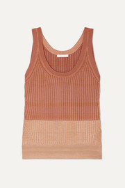 Ribbed wool-blend tank