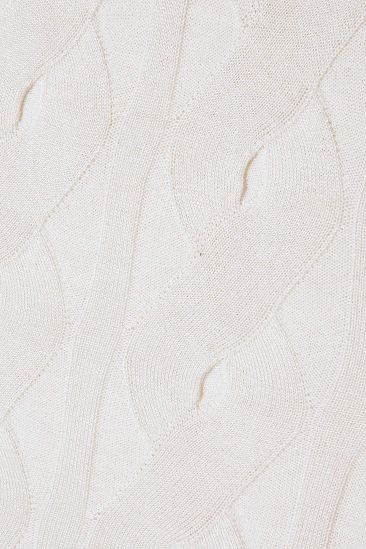 Chloé Ärmelloser Rollkragenpullover aus einer Woll-Seidenmischung in Zopfstrick