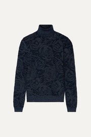 Chloé Metallic jacquard-knit turtleneck sweater